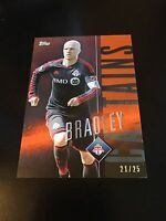 Michael Bradley Captains Orange Parallel 21/25 2015 Topps Apex MLS Major Soccer