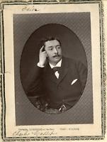 Lemercier et Cie, Paris, M. Charles Masset de l'Odéon  Vintage print.  Ph