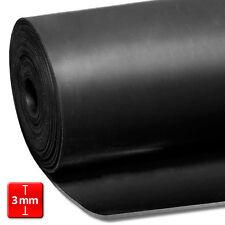 Antirutschmatte Gummimatten Vollgummi glatt schwarz 3mm