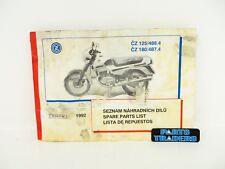 OEM Genuine CZ Spare Parts List 488.4 125 487.4 180 1992 451948709 156