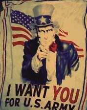 Sciarpa particolare bandiera america usa i want you beige grande foulard kefia