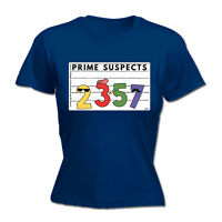 Womens Funny T Shirt - Prime Suspects - Birthday Joke tee Gift Novelty T-SHIRT