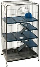 Large Metal Cage Indoor 3 Tiers Chipmunk Degu Rodent Ferret Chin