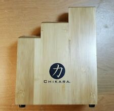 Empty Chikara Solid Wood Knife Holder Holding Block