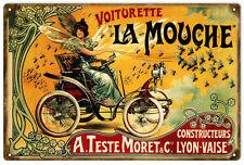Nostalgic Voitorette La Mouche Bicycle Sign Reproduction