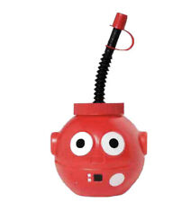 More details for red nose day comic relief water drinking sipper bottle cup holder + straw 450ml