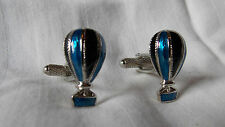 Cufflinks by Onyx Art Theme Hot Air Balloons Beautiful Enamelled Colours Boxed