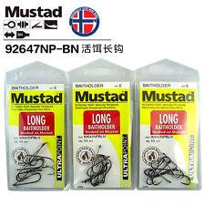 3 Packets Mustad Long Baitholder Size 6 Chemically Sharpened Hooks 92647NPBLN