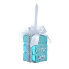 "3"" Tiffany Blue Gift Bag Shaped Christmas Ornament Tree Decor by Kurt Adler"