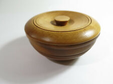 Antique 2-Piece Turned Maple Shaving Soap Box