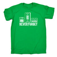 Funny Novelty T-Shirt Mens tee TShirt - Never Forget Floppy Vhs Tape