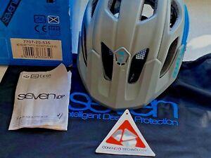 SEVEN IDP 7 iDP M2 Tactic Used Mountain Bike Helmet : Grey/Blue Size ML 55/59 cm