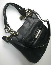 Coach Kristin Elevated North South Black Leather Large Zip Tote Bag Satchel WOW!
