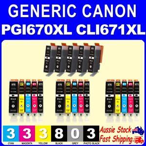 5x 10x 14x Generic 670 PGI670XL CLI671XL CLI671 for Canon MG5760 MG5765 MG6860