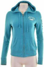 HOLLISTER Womens Hoodie Sweater Size 12 Medium Blue Cotton  NF14