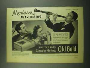 1939 Old Gold Cigarettes Ad - Artie Shaw