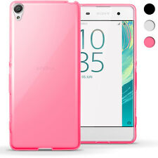 iGadgitz Transparent Pink Glossy TPU GEL Skin Case Cover for Sony Xperia XA F3111 Screen Protector