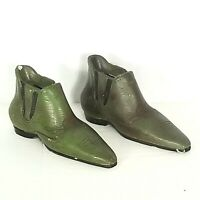 Vtg Lego Western Cowboy Boots Shoes Set Green Plaster Coin Piggy Bank