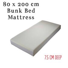 80 X 200 CM BUNK BED REFLEX FOAM MATTRESS + WASHABLE ZIPCOVER 3 INCH(7.5cm) Deep