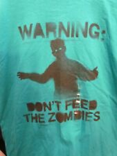 Warning Don T Feed The Zombies Delta Pro weight T-Shirt LARGE