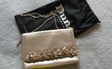 Dune Gold Clutch Bag