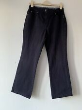 Maine New England Ladies Cotton Jeans Navy Blue Size 12S W29 L27
