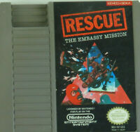 Rescue Embassy Mission NES Video Game w/ Dust Cover VTG