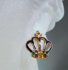 Mardi Gras Crown Earrings  (MGE139)