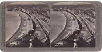 Panorama di Nizza Francia Fotografia Vintage Stereo Stereoview