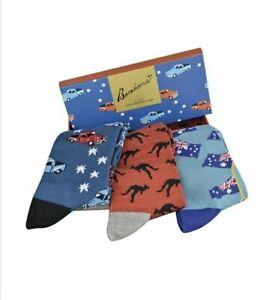 Bamboo Fibre Socks Australian Flag Socks.Kangaroo Socks.Ute Socks. Souvenir Sock