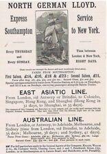 North German Lloyd shipping line-Antique Publicité c1900