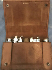 Antique Sterling silver 8 piece Manicure Set in case,travel set VGC