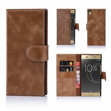 32nd Premium Series - Real Leather Book Wallet Case for Sony Xperia Xa1 Ultra Sny.xa1ultra.32ndprem-chestnut Chestnut