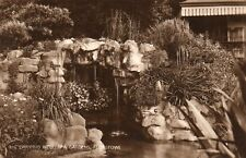 FELIXSTOWE The Dripping Well Spa Gardens Suffolk 1929 Real Photo Postcard (204)