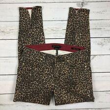 Genetic Denim Jeans Size 29 Womens Karlie Back Scallop Cropcig Leopard Ankle