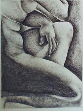 """""""ETUDE DE NU FEMININ"""" Crayon noir sur papier"""
