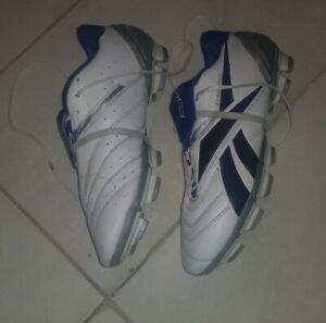 Mens Reebok Sprintfit Hardlink Leather Football Boots Mulded Studs UK8.5 /42.5EU