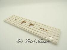 Lego White train carriage base 6 x 24 split from set 7897