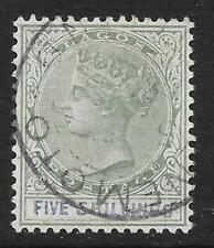 Lagos 1887-1902 5/- Green & Blue SG 40 (Fine Used)