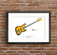 Jaco Pastorius' 1962 Fender Jazz 'Bass of Doom' ART POSTER A2 size