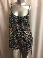 Summer Women Starpy Leopard Pattern Tank Tops Vest Casual Blouse  T Shirt XL