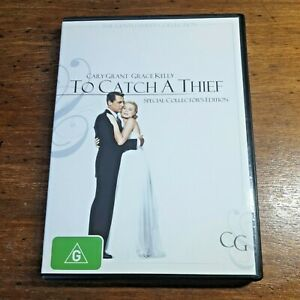 To Catch a Thief DVD R4 LIKE NEW FREE POST Alfred Hitchcock Cary Grant