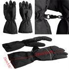 Black Gloves Men's Waterproof Heated Motorcycle Gear Rechargeable Battery New