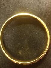 KJL Bracelet with Rhinestones Cuff Bangle Gold Tone