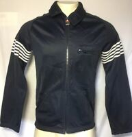 Vintage Fila Track Jacket Warm Up Full Zip Mens M 36 Italy 90's Stripes Navy