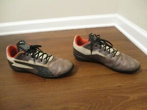 Used Worn Size 11 Puma evoPower 4 Turf Shoes Brown Black Orange Beige