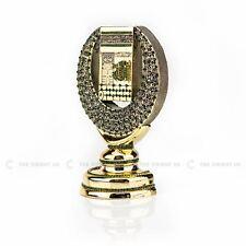 Gold Kaaba + 99 Names Crescent Shape Gold Islamic Ornament 15x23 cm Eid Gift