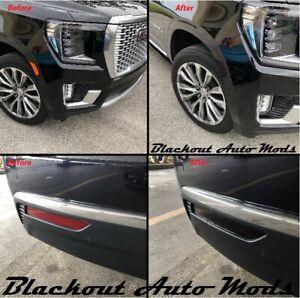 2021 GMC Yukon Front Rear Reflector Blackout Light Kit Smoke Vinyl Overlay