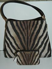 With Tags Coach 26636 Madison Phoebe Zebra Shoulder Handbag