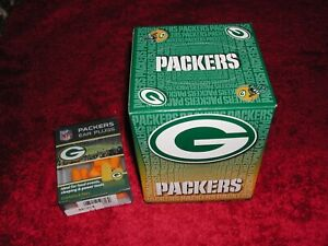 Green Bay Packers Ear Plugs New in factory Package 6 Pairs + New Box of Tissues